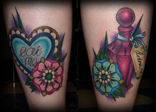 ink with alice in wonderland