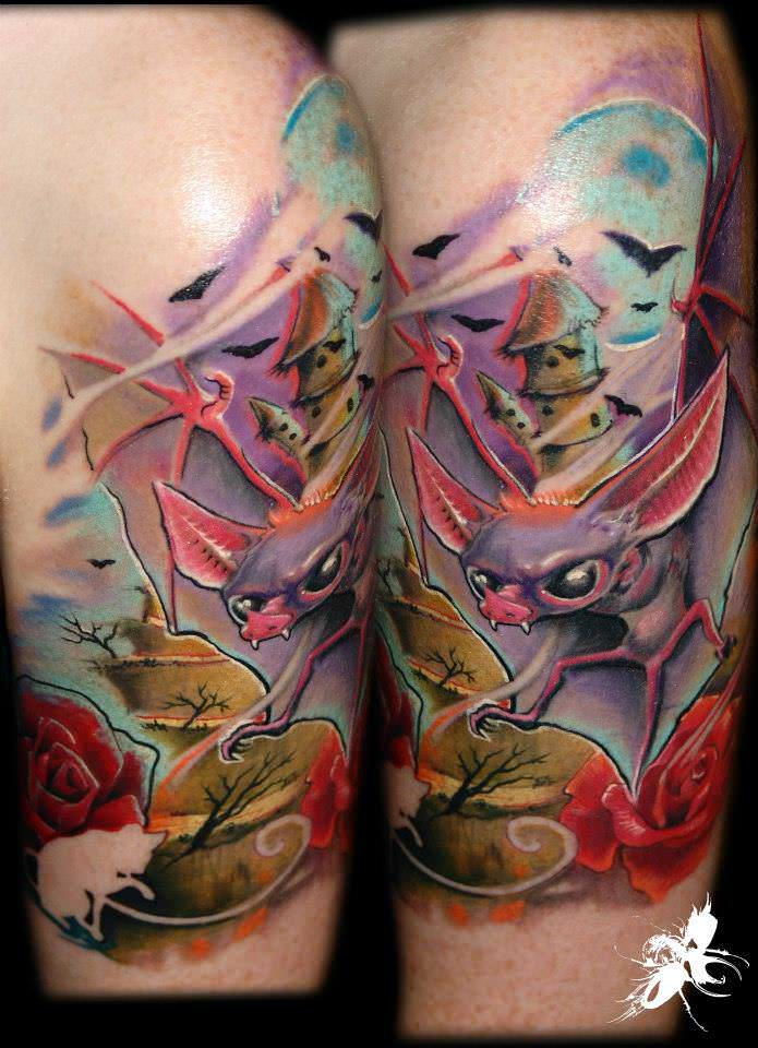 New School And Pop Surrealism Tattoos By G 225 Bor Quot Jelo