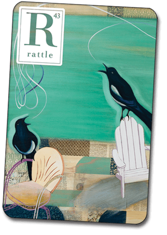 The background image is from the cover of Rattle #43 by  Jacqui Larsen.