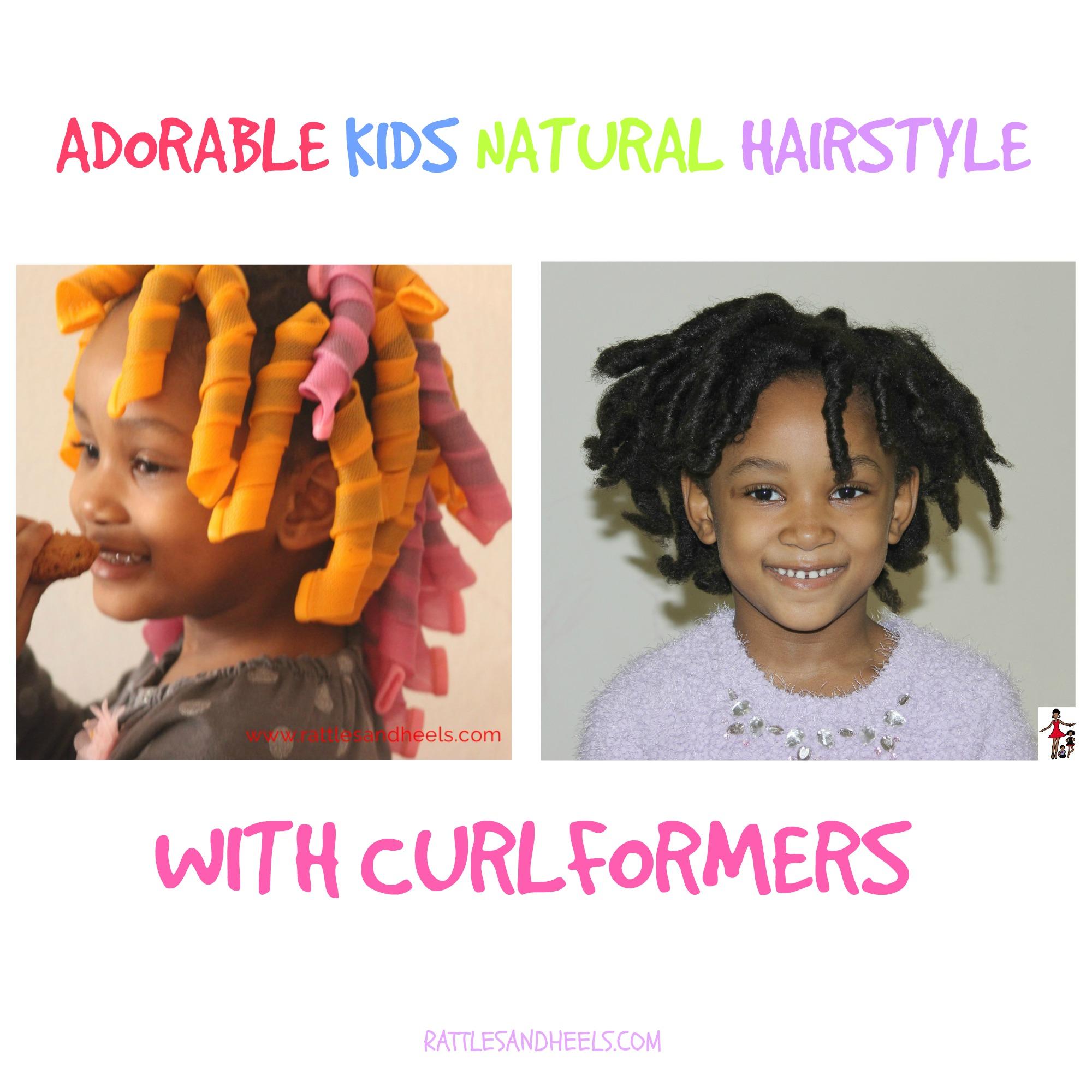 Kids Natural Hairstyle Curlformers Rattles Heels