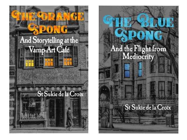Orange and Blue Spong Book Covers