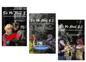 Covers of the three Tell Me About It Books