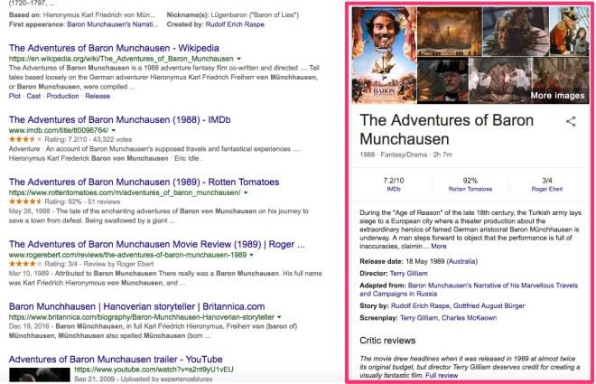 google knowledge graph search