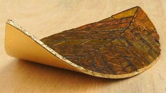Golden gilded leaf