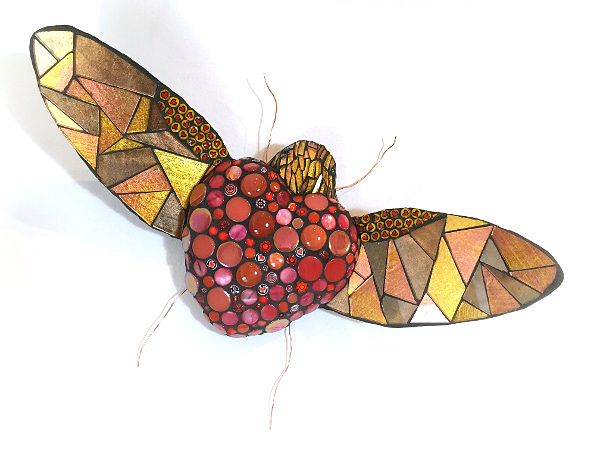 love bug wing heart mosaic