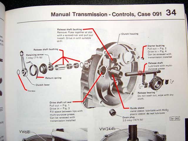 Vw Bus Trans Diagram 091 Transmission Refresh