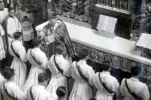 La misa de ordenación en la catedral de Frisinga, el 29 de junio de 1951