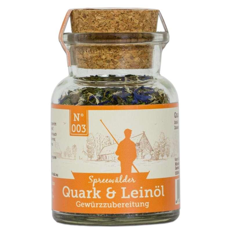 Quark und Leinöl Einzelglas