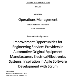 Improvement Opportunities for Engineering Services Providers in Automotive Original Equipment Manufacturers Electrical/Electronics Systems