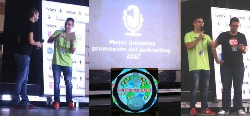 Entrega del premio a la mejor iniciativa de promoción del podcasting 2017