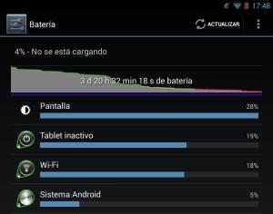 datos globales de la batería del Nexus 7 de 2013