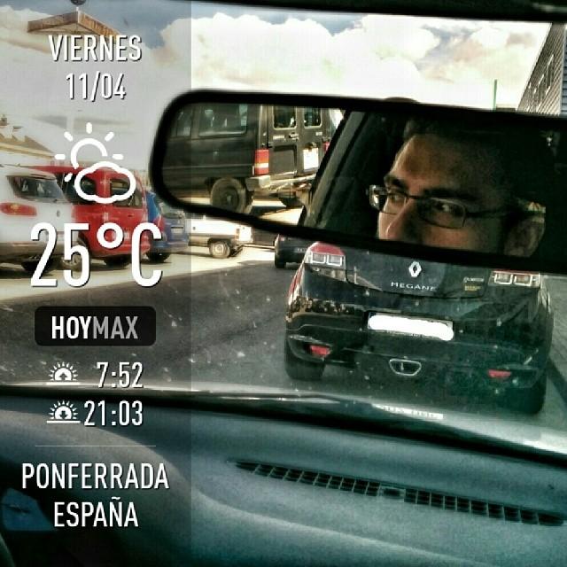 Empieza a hacer más fresco dentro del coche #elBierzo