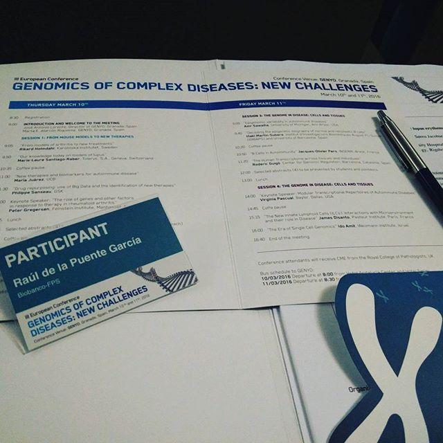 Hoy terminamos con la Genómica de enfermedades autoinmunes #genomics #meeting