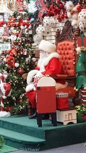 Santa Claus sitting on his throne
