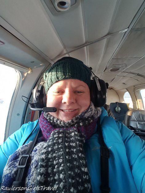 Heather Raulerson on plane