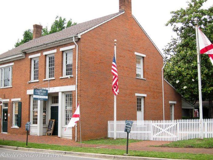 Entrance to Constitution Village in Huntsville, Alabama