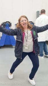 Kim Henry, PR for Marshall Space Flight Center and our tour guide