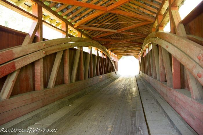 Inside view of Herline Covered Bridges of Bedford County