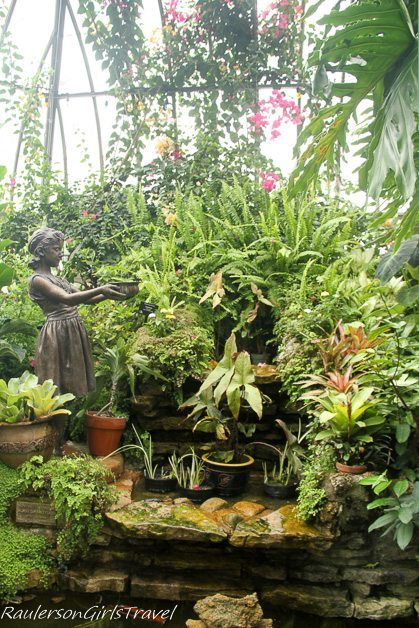 Sculpture & Water Garden at the Anna Scripps Whitcomb Conservatory