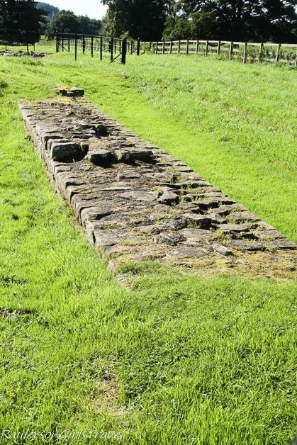 Hadrian's Wall at Chesters Roman Fort in England