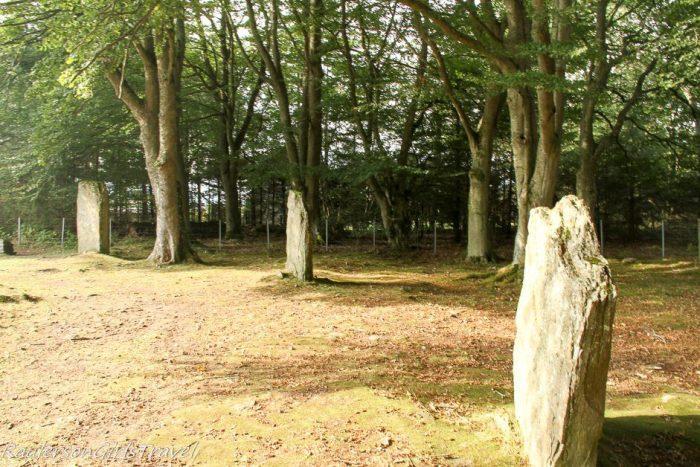 Clava Cairns standing stones