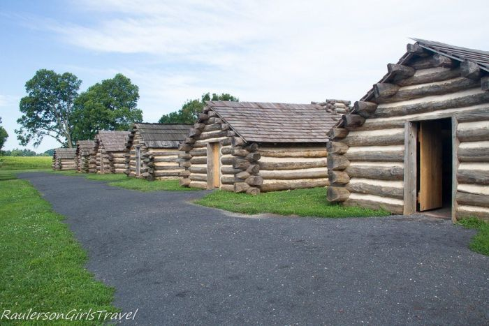 army huts on Muhlenberg Brigade at Valley Forge