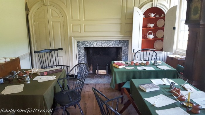 Washington's officers office at Valley Forge