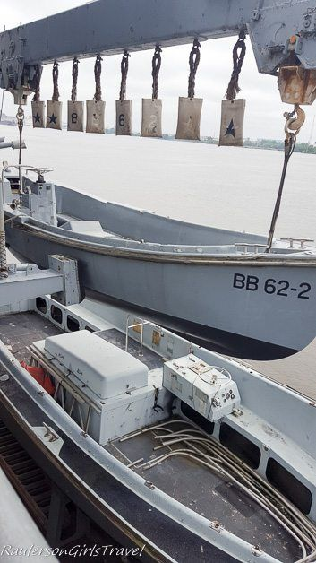 Boats on USS New Jersey