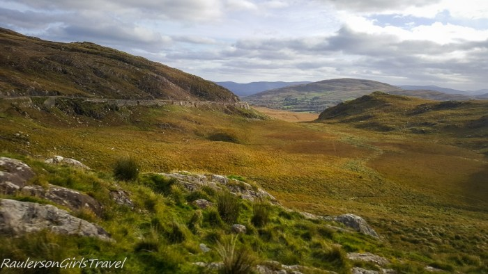 The view from the road along the Ring of Kerry, Ireland