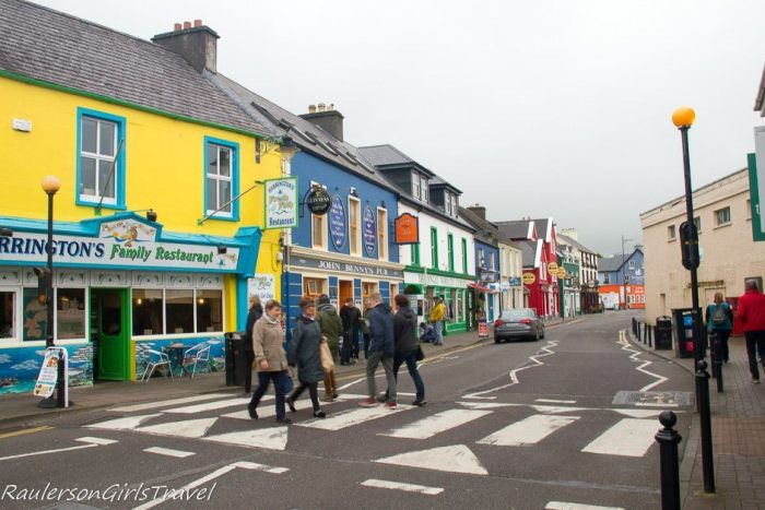 Colorful city street in Dingle, Ireland