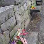 Grave stones of accused witches in Salem, Massachusetts