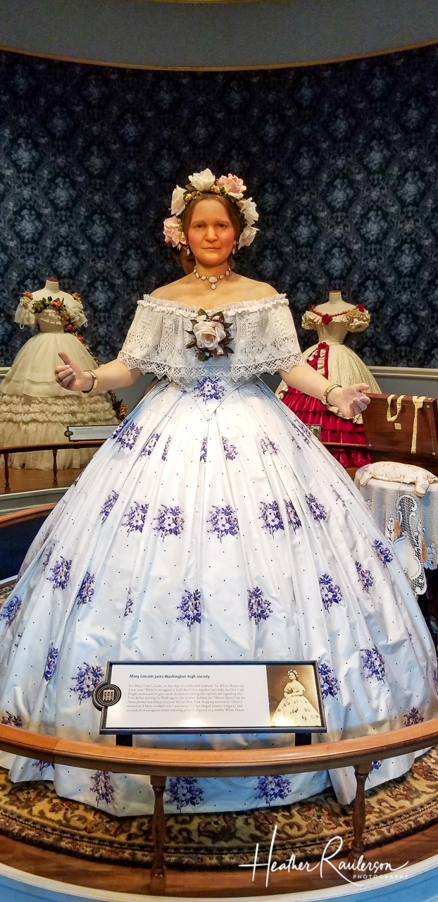 Mary Lincoln dressed in Spring Fashion