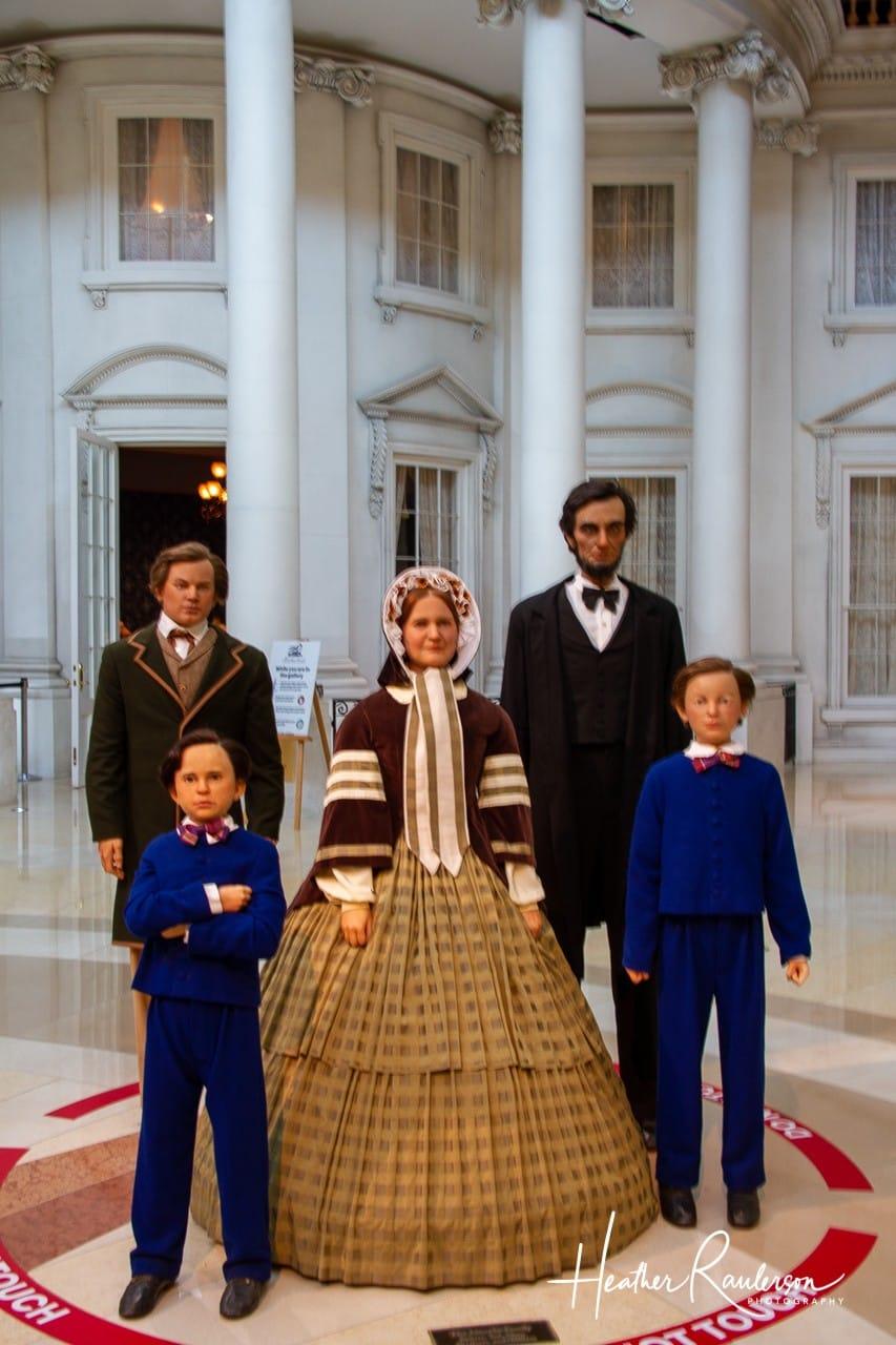 The Lincoln Family entering Washington DC