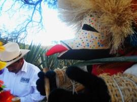 Detalle en primer plano de un «viejo». Representación que se hace durante las fiestas de Zapotitlán para alejar a los malos espíritus y garantizar un buen año