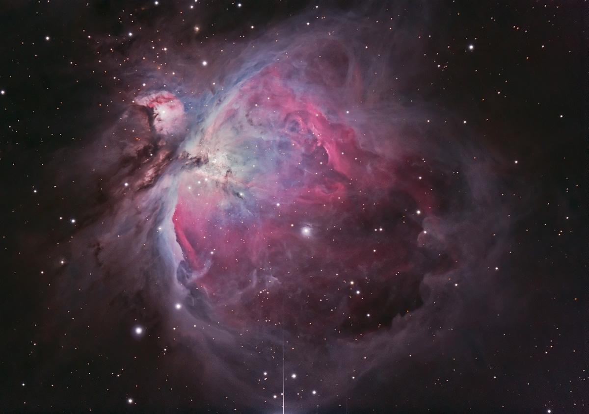 In der Astrofotografie ist der Orionnebel ein beliebtes Objekt. Hinter diesem Bild von Fabian Neyer steckt viel Arbeit. Aber sind diese Farben echt?