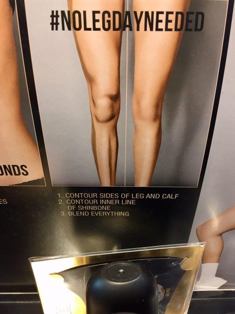 Contouring am Knie? Sind die bescheuert?