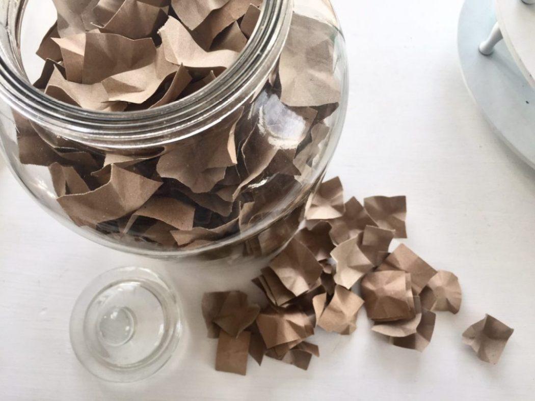 paeckchen polstern mit papier