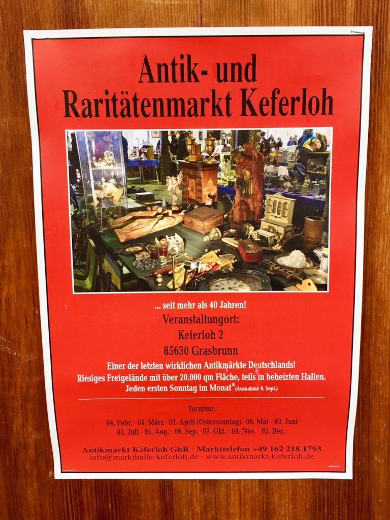 Glück ist, dass der Flohmarkt in Keferloh wieder aufmacht