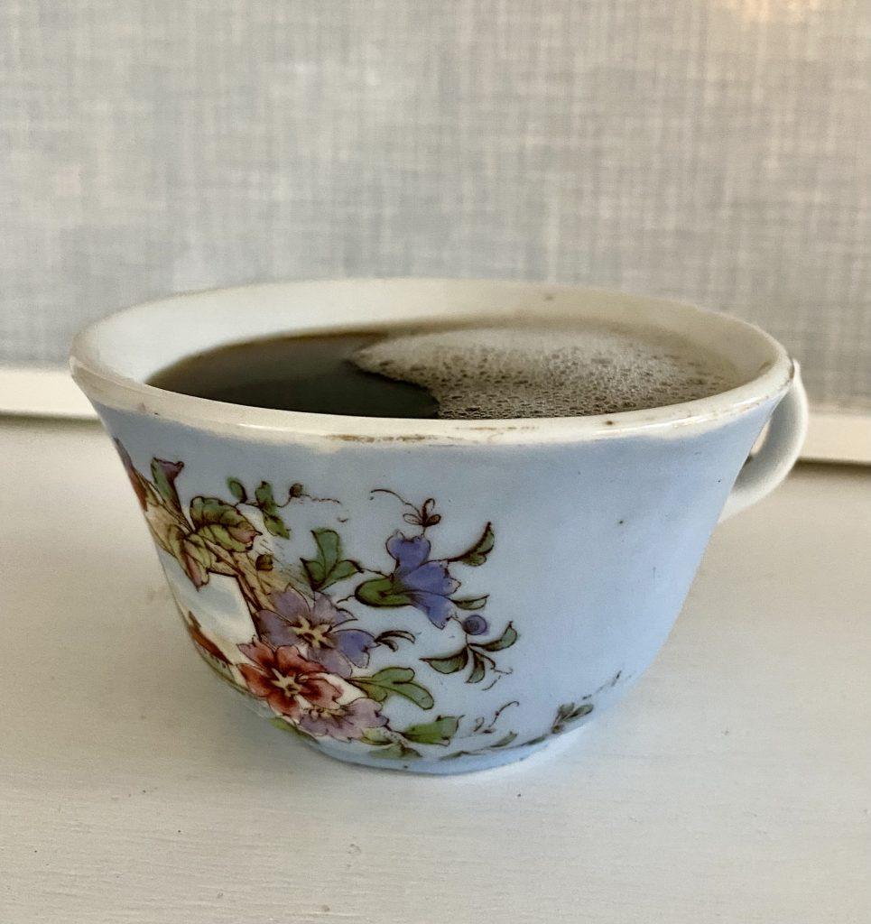 Glueck oder Glück. Hauptsache Kaffee.