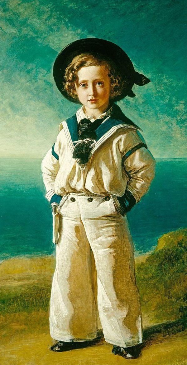 Gemälde von Prinz Albert am Meer