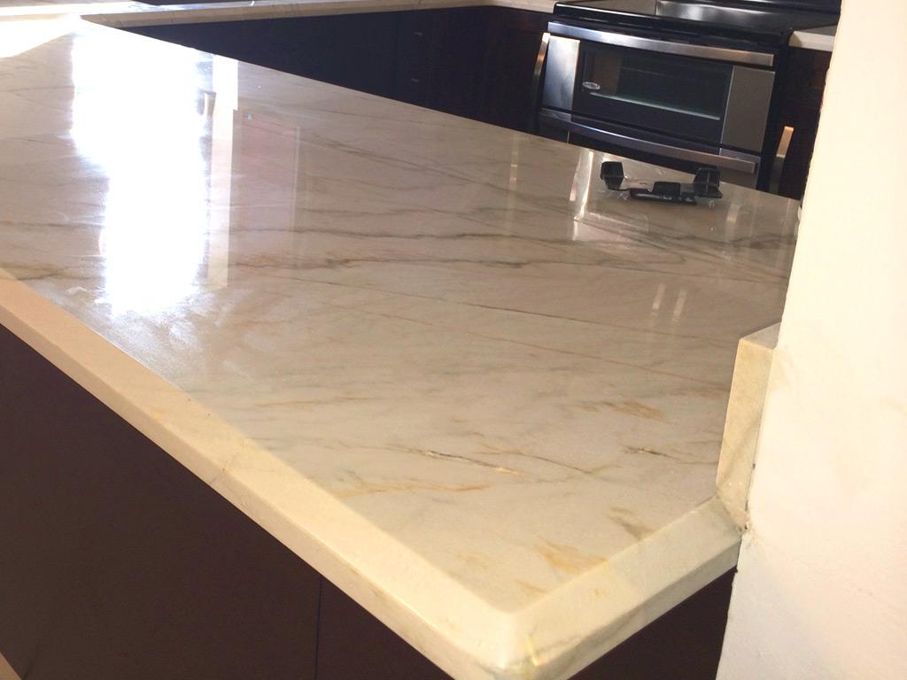 Wood Cabinets Amp White Quartz Countertop Miami General Contractor