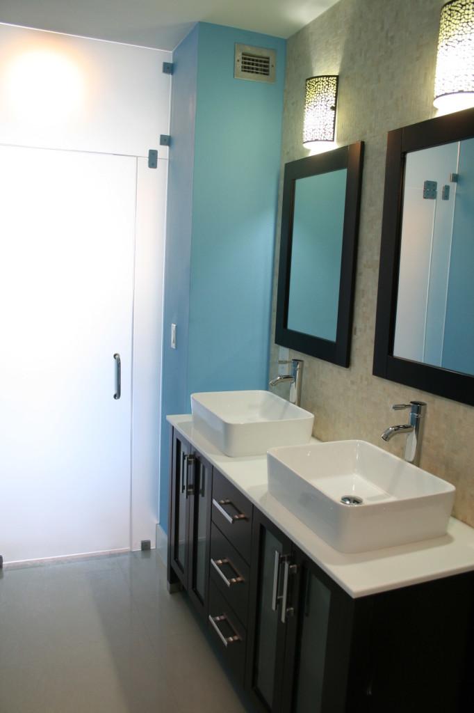Modern Bathroom Remodel  Miami General Contractor