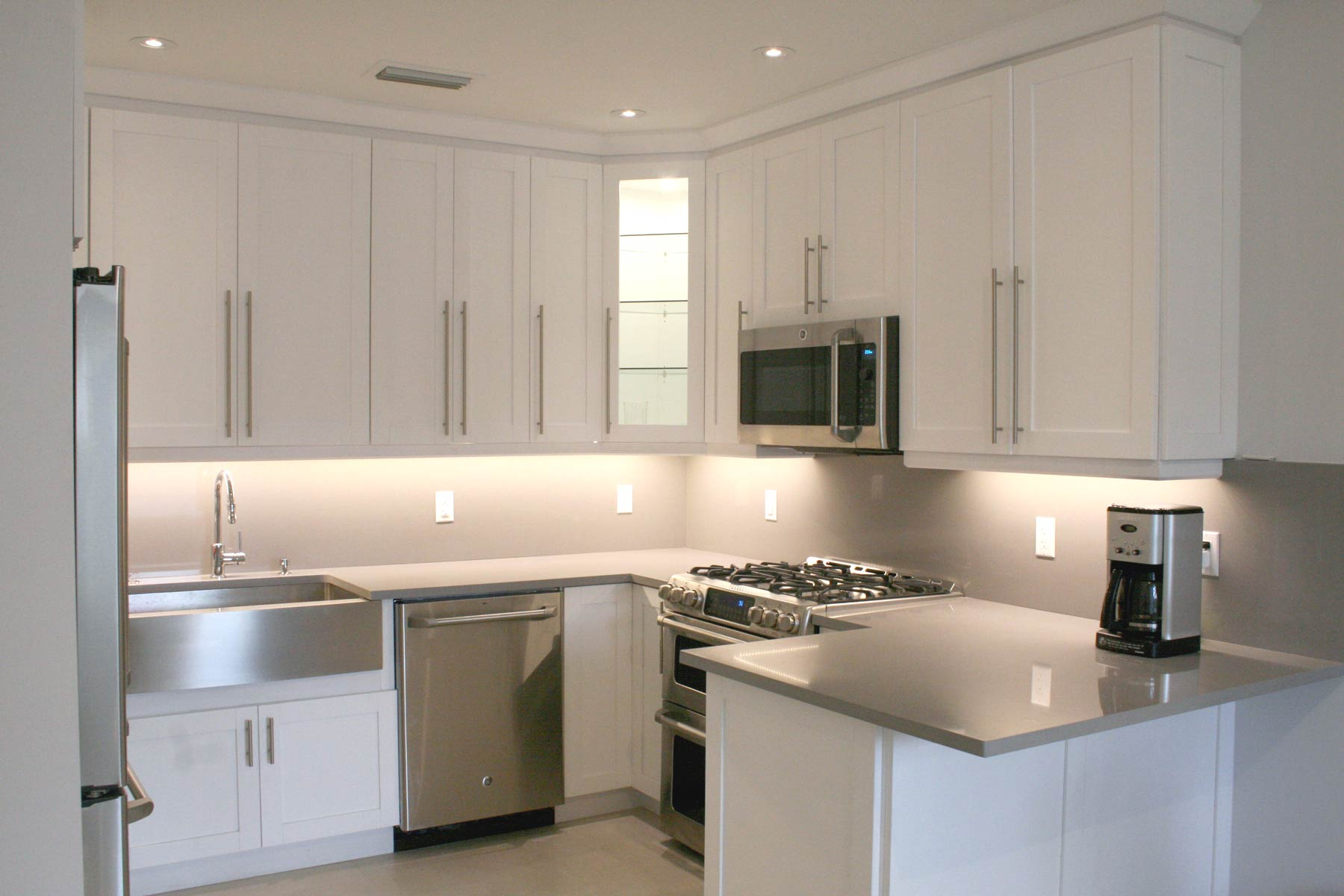 Previously enclosed Kitchen remodeled to modern style
