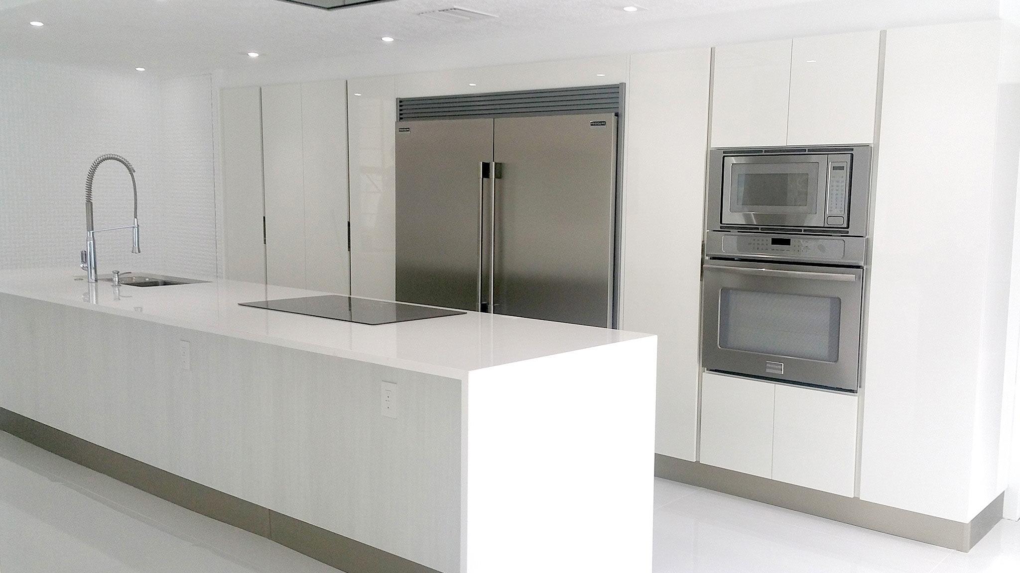 Italian Kitchen Design in White  Miami General Contractor