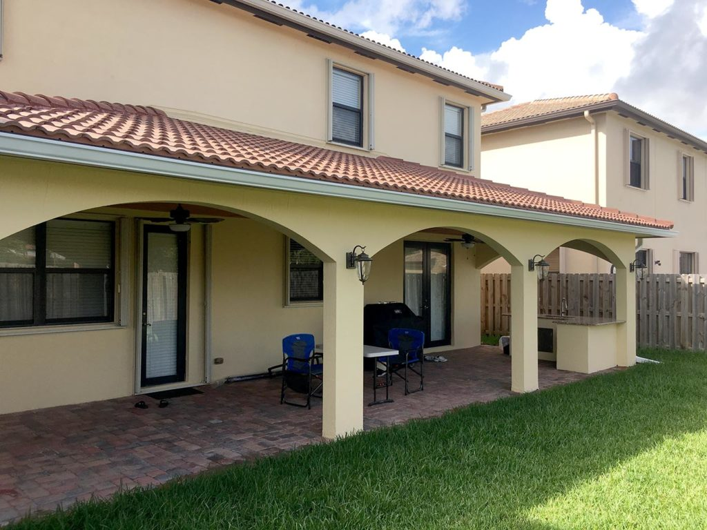 New Covered Patio Construction  Miami General Contractor