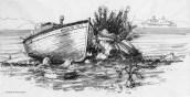 Afrodite – båt på gresk strand
