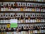 Flaschen im Weinmuseum Deidesheim