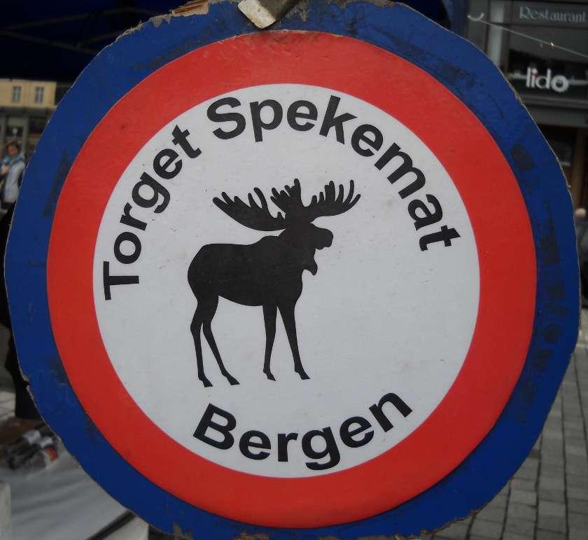 Schild Torget Bergen