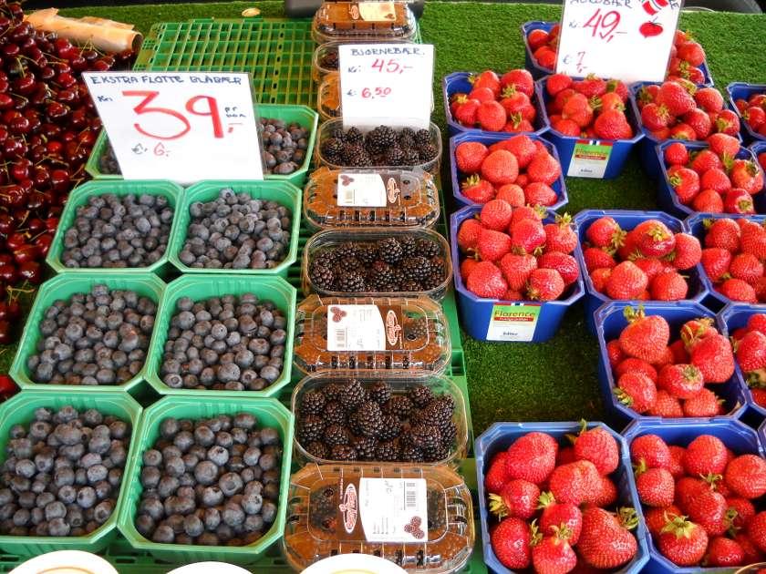 Bergen markt früchte