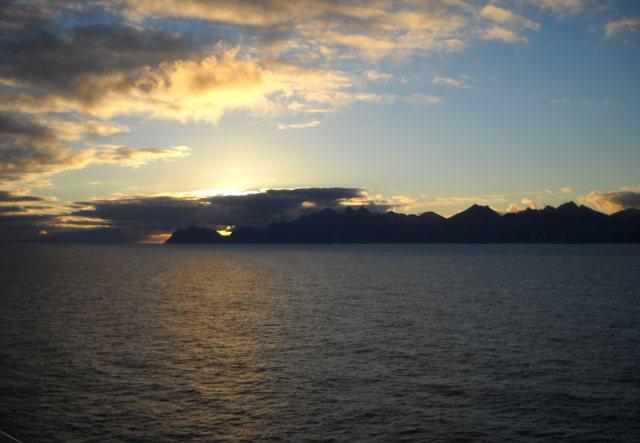 Norwegen sonnenuntergang